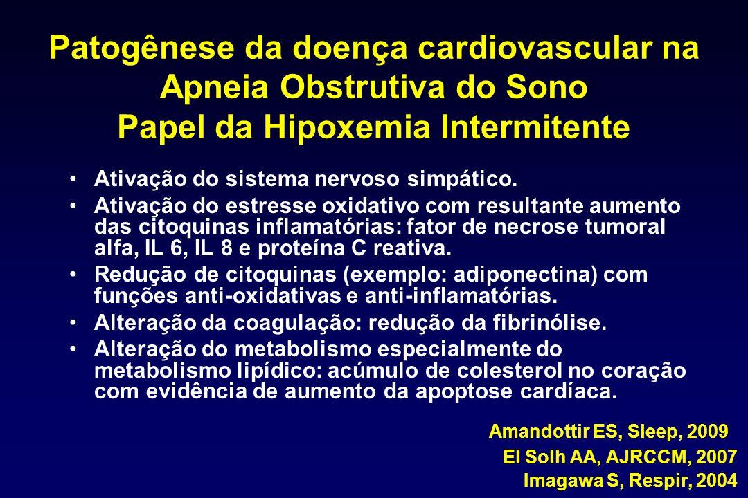 Patogênese da doença cardiovascular na Apneia Obstrutiva do Sono Papel da Hipoxemia Intermitente