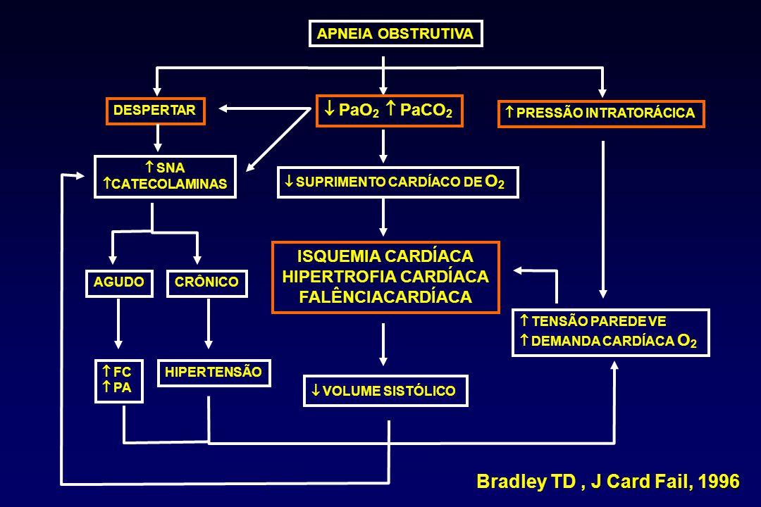 Bradley TD , J Card Fail, 1996  PaO2  PaCO2 ISQUEMIA CARDÍACA