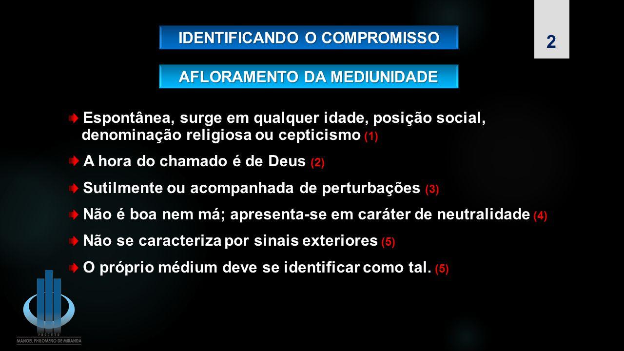 IDENTIFICANDO O COMPROMISSO AFLORAMENTO DA MEDIUNIDADE