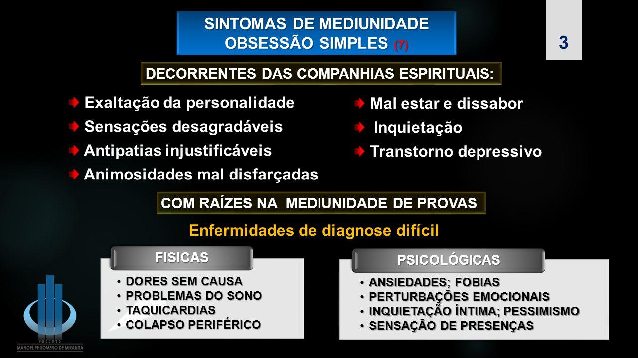 SINTOMAS DE MEDIUNIDADE