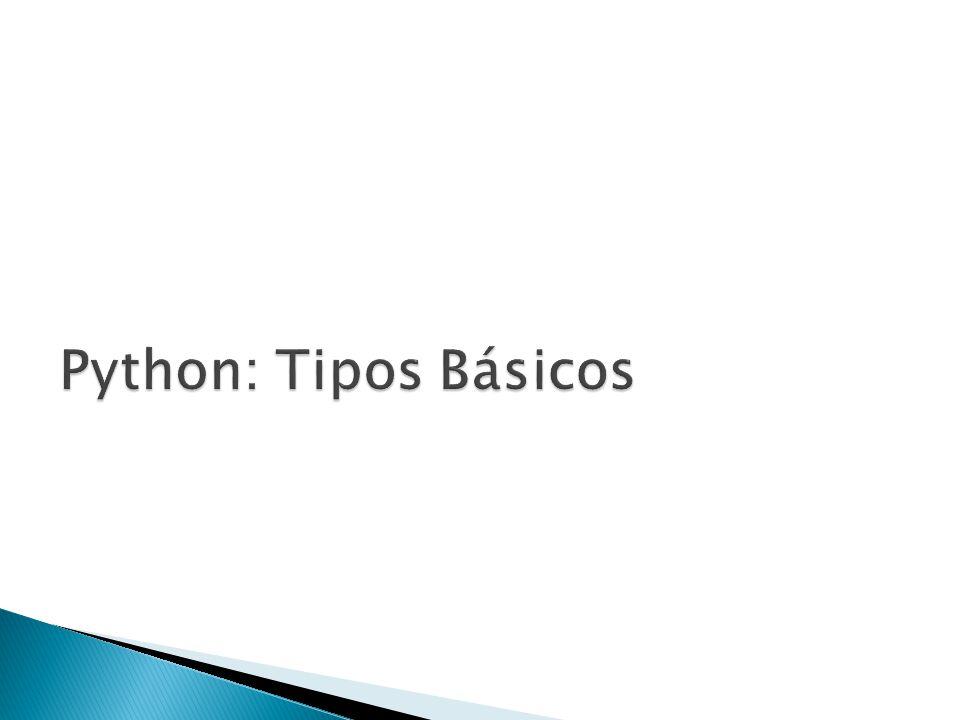 Python: Tipos Básicos