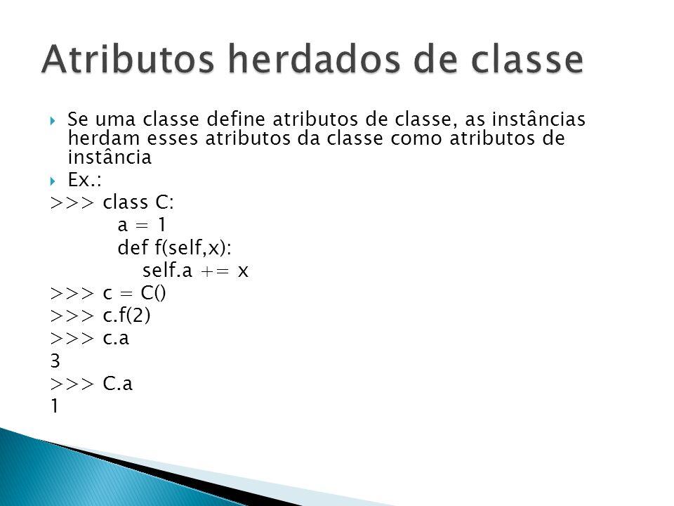Atributos herdados de classe