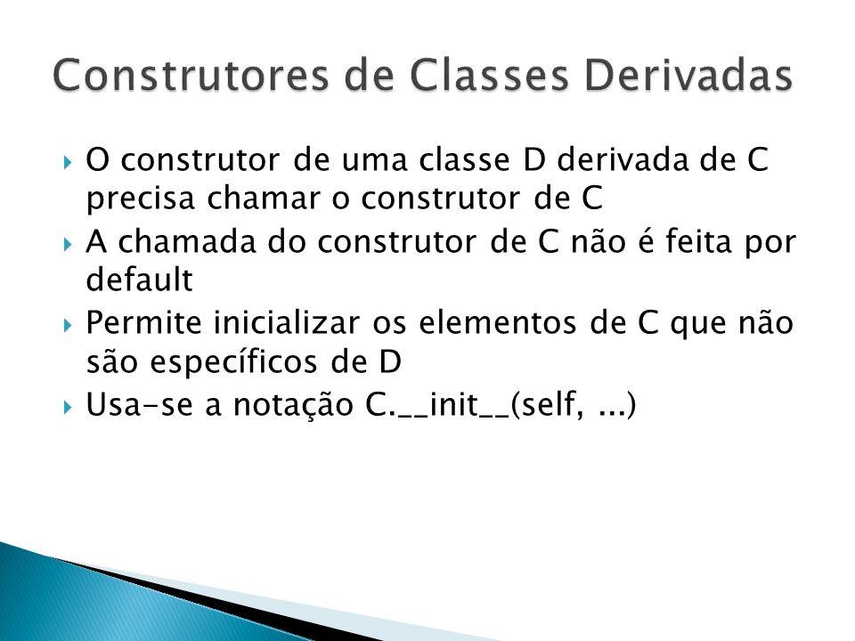 Construtores de Classes Derivadas