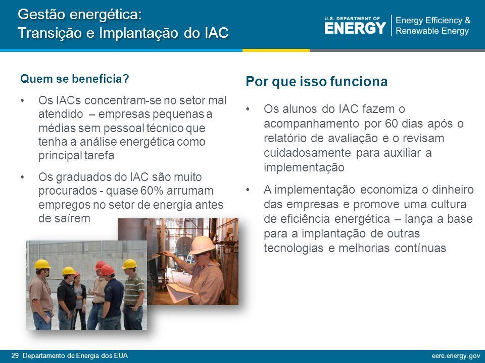 Gestão energética: Transição e Implantação do IAC