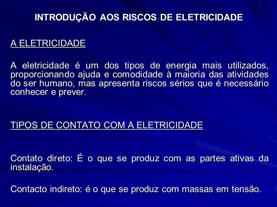 INTRODUÇÃO AOS RISCOS DE ELETRICIDADE