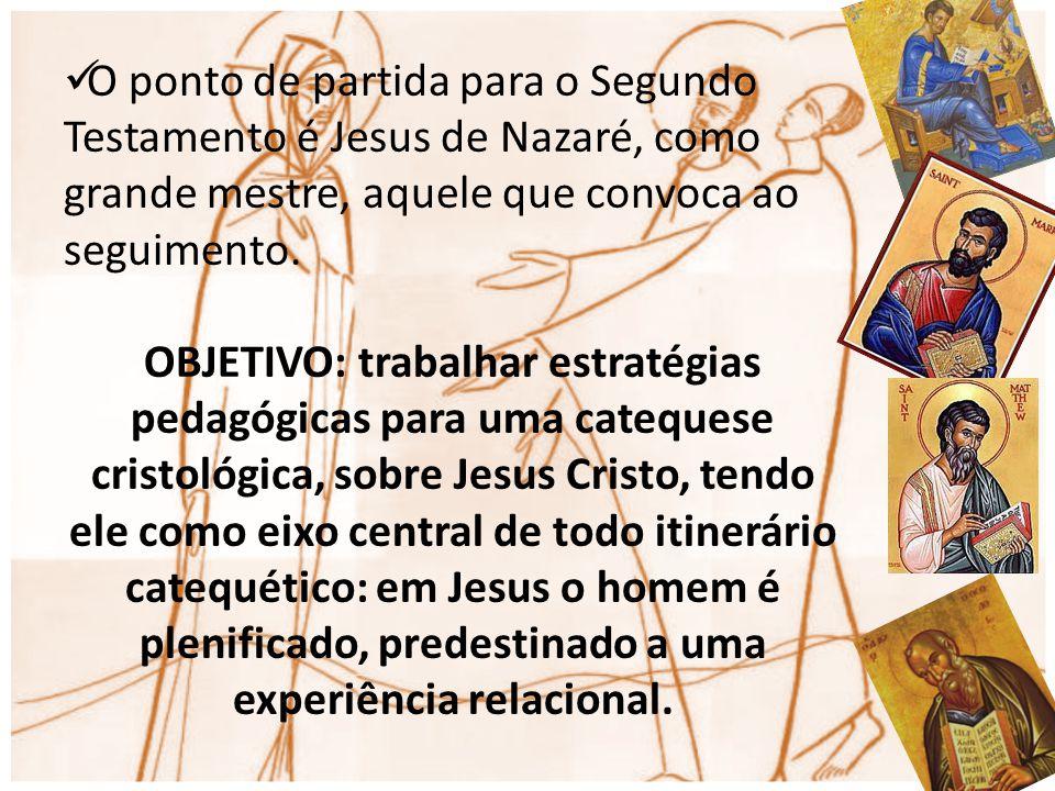 O ponto de partida para o Segundo Testamento é Jesus de Nazaré, como grande mestre, aquele que convoca ao seguimento.