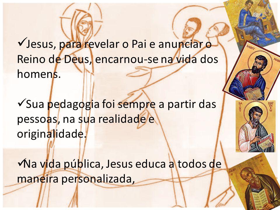 Jesus, para revelar o Pai e anunciar o Reino de Deus, encarnou-se na vida dos homens.