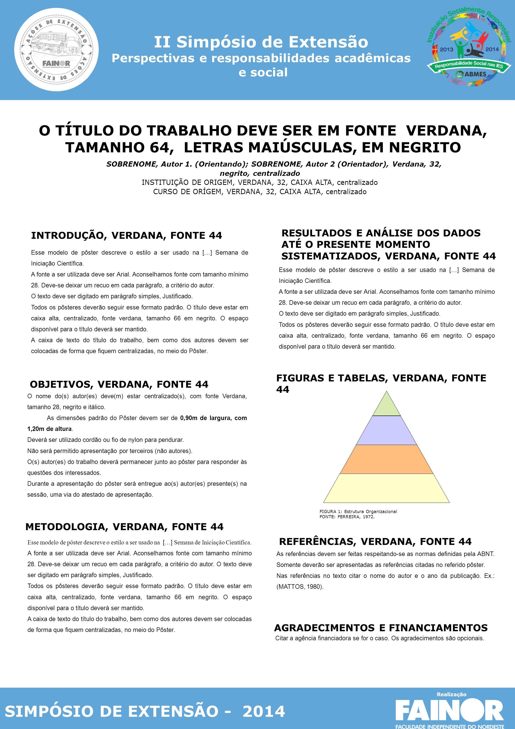 II Simpósio de Extensão Perspectivas e responsabilidades acadêmicas