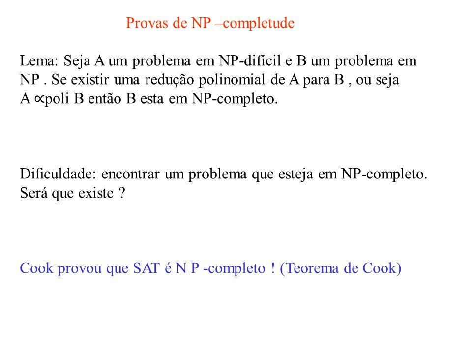 Provas de NP –completude