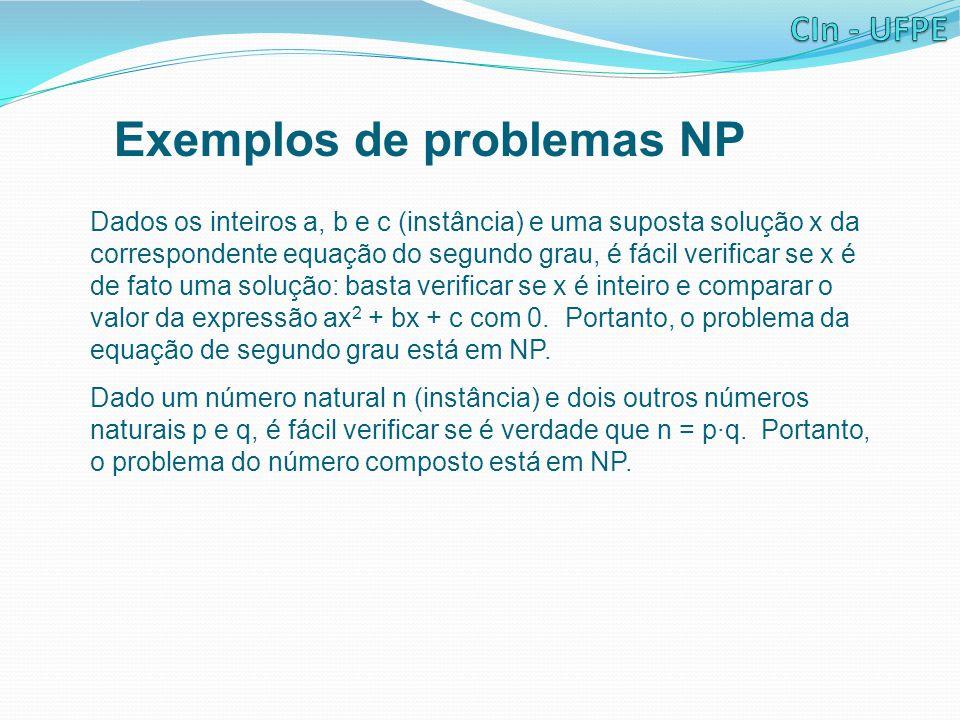 Exemplos de problemas NP