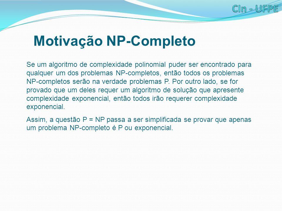 Motivação NP-Completo