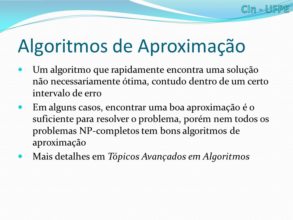 Algoritmos de Aproximação
