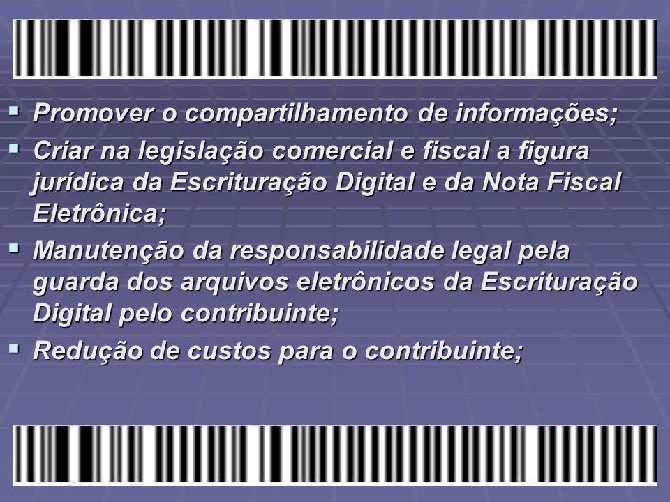 Promover o compartilhamento de informações;