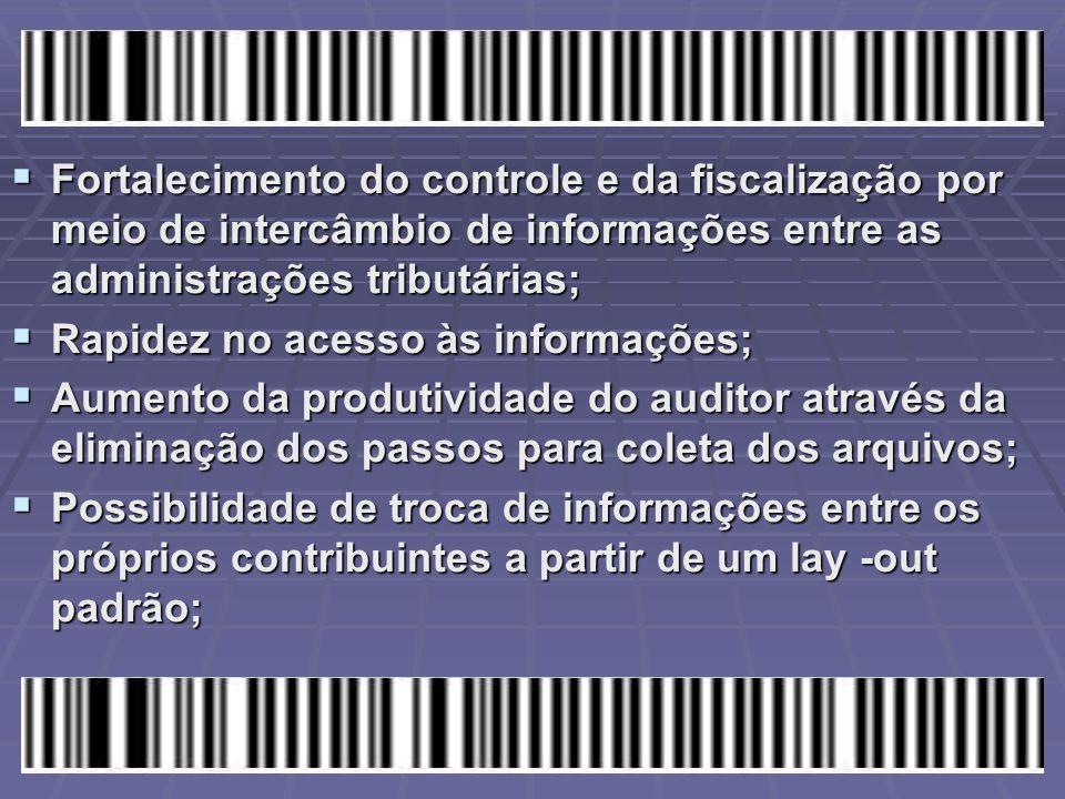 Fortalecimento do controle e da fiscalização por meio de intercâmbio de informações entre as administrações tributárias;