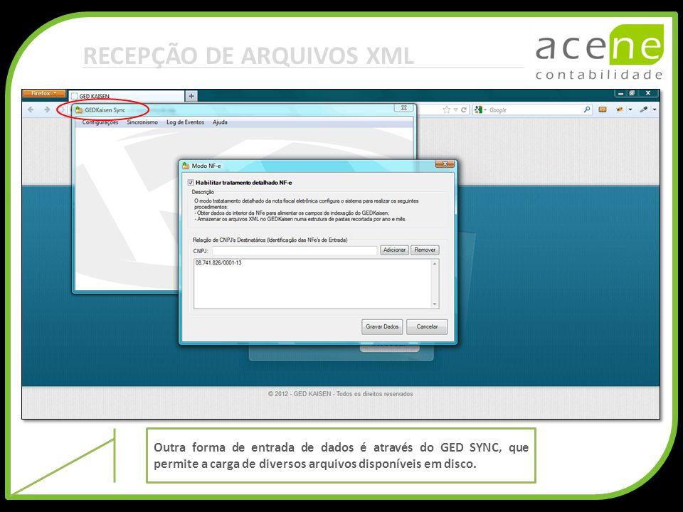 RECEPÇÃO DE ARQUIVOS XML