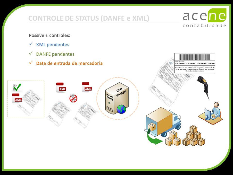 CONTROLE DE STATUS (DANFE e XML)