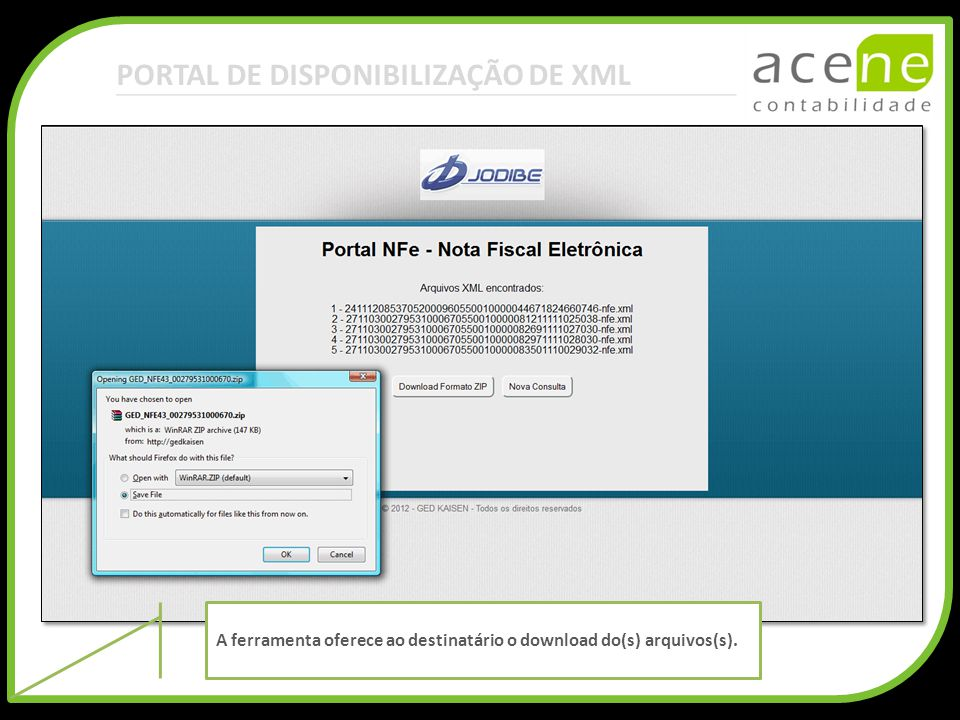 PORTAL DE DISPONIBILIZAÇÃO DE XML