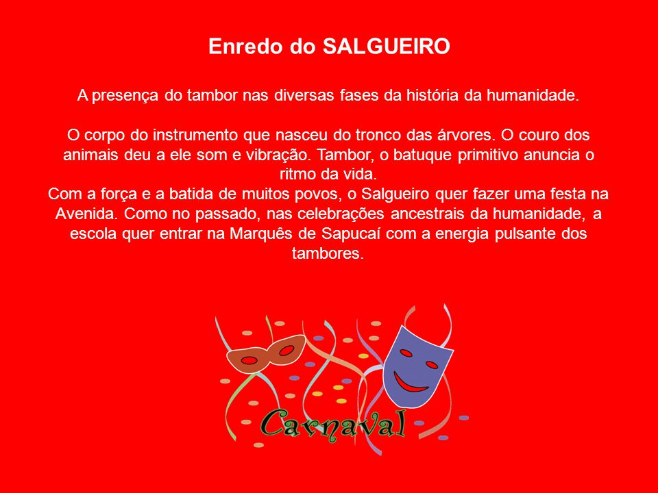 Enredo do SALGUEIRO