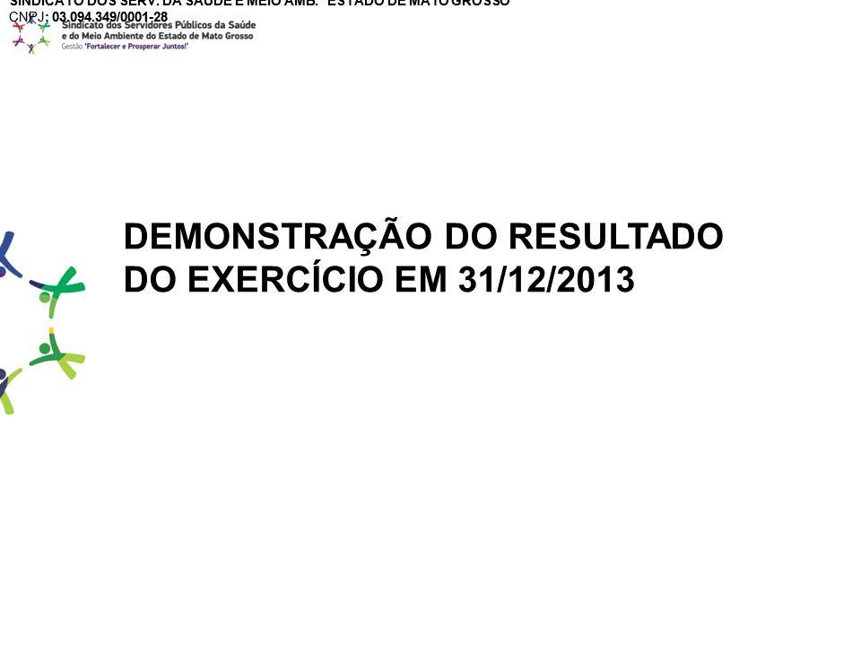 DEMONSTRAÇÃO DO RESULTADO DO EXERCÍCIO EM 31/12/2013