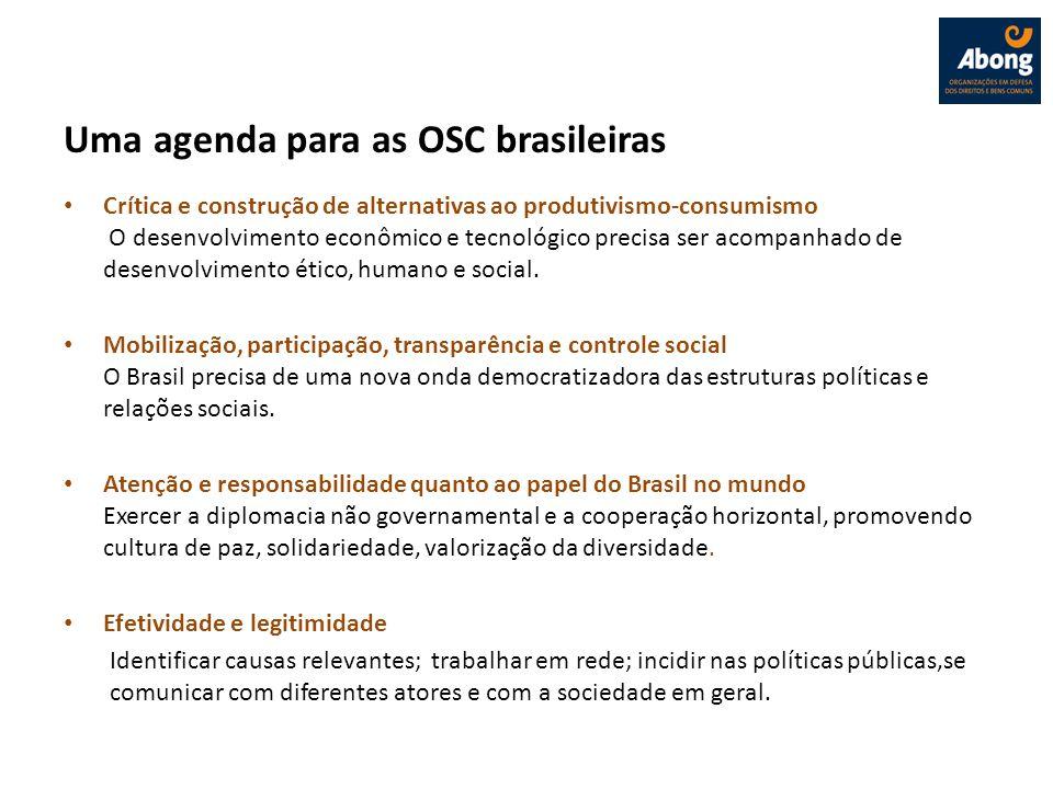 Uma agenda para as OSC brasileiras