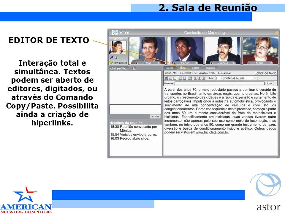 2. Sala de Reunião EDITOR DE TEXTO