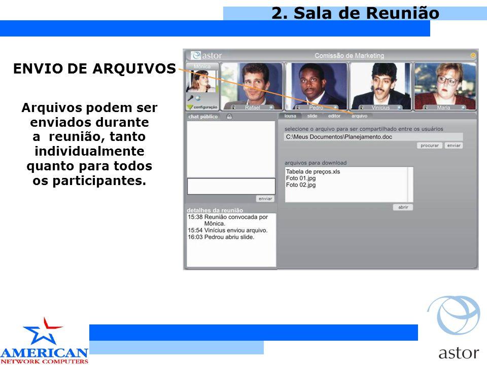 2. Sala de Reunião ENVIO DE ARQUIVOS