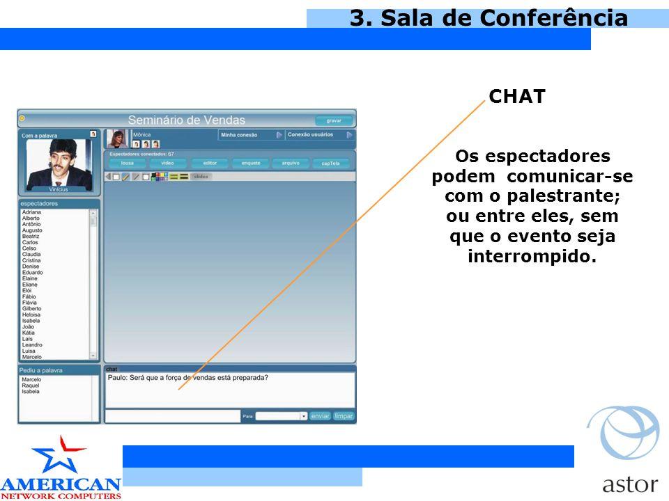 CHAT 3. Sala de Conferência