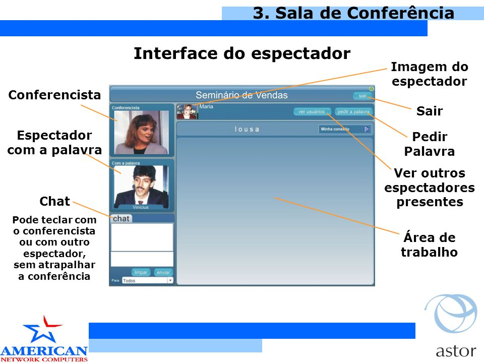 Interface do espectador