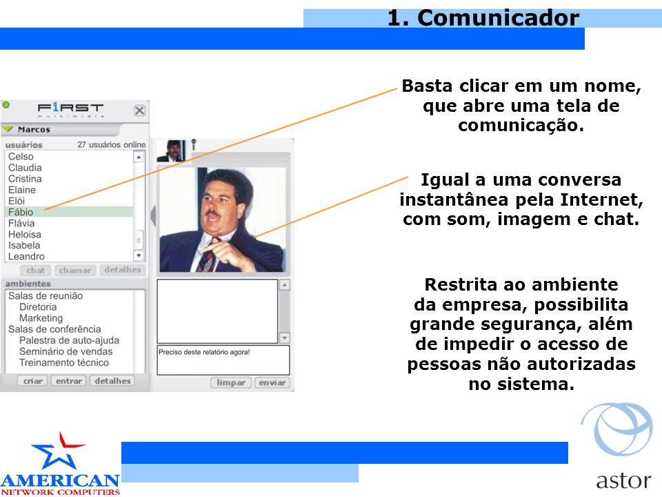 Basta clicar em um nome, que abre uma tela de comunicação.
