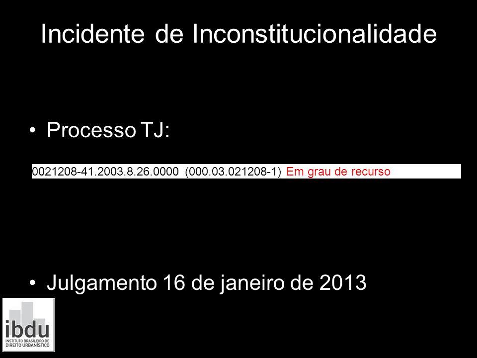 Incidente de Inconstitucionalidade