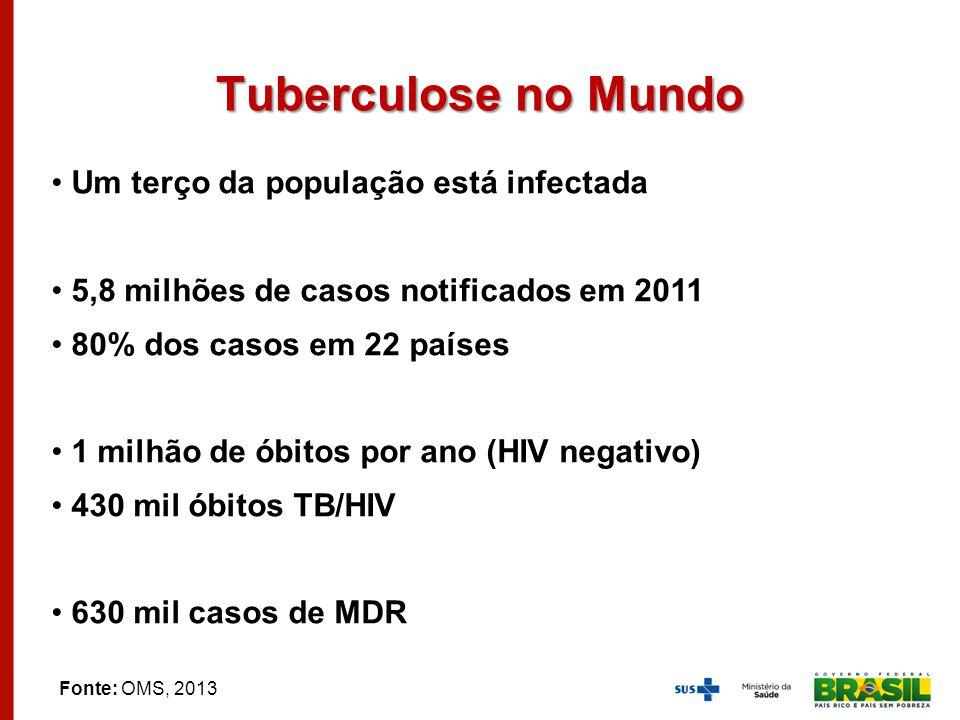 Tuberculose no Mundo Um terço da população está infectada