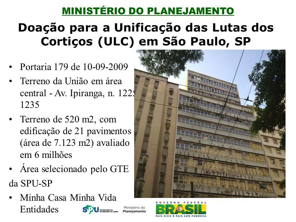 Doação para a Unificação das Lutas dos Cortiços (ULC) em São Paulo, SP