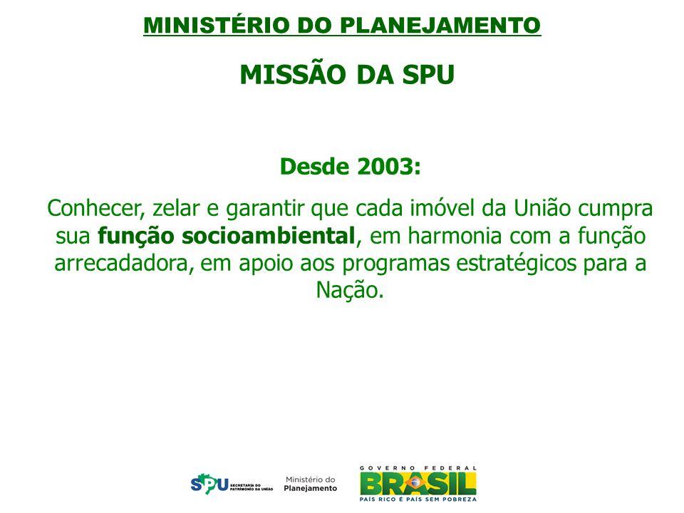 MISSÃO DA SPU MISSÃO SPU