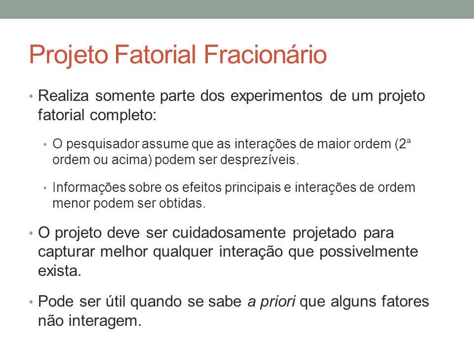 Projeto Fatorial Fracionário