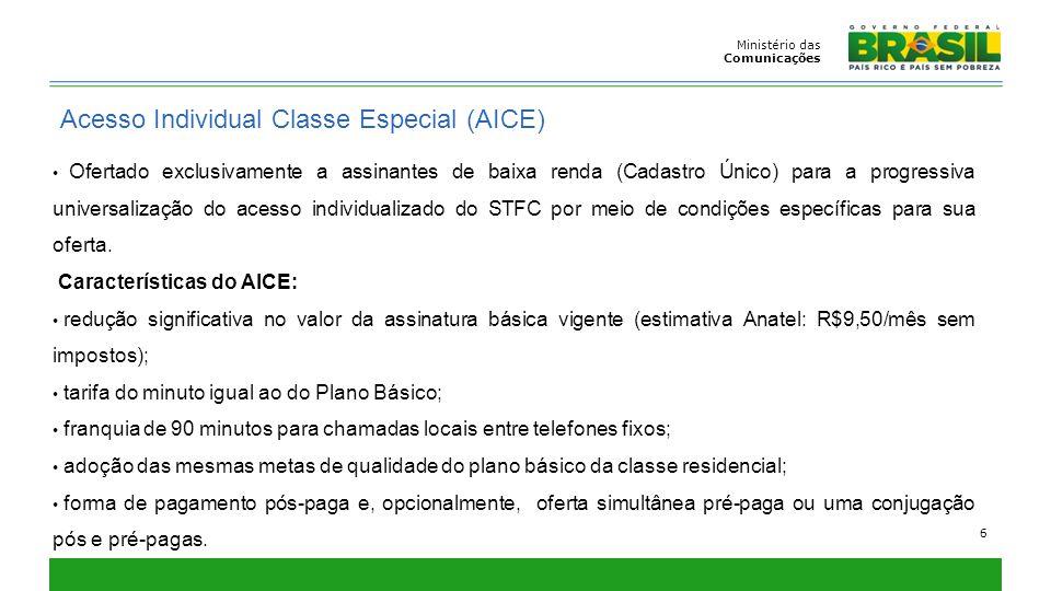 Acesso Individual Classe Especial (AICE)