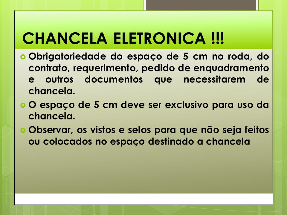 CHANCELA ELETRONICA !!!