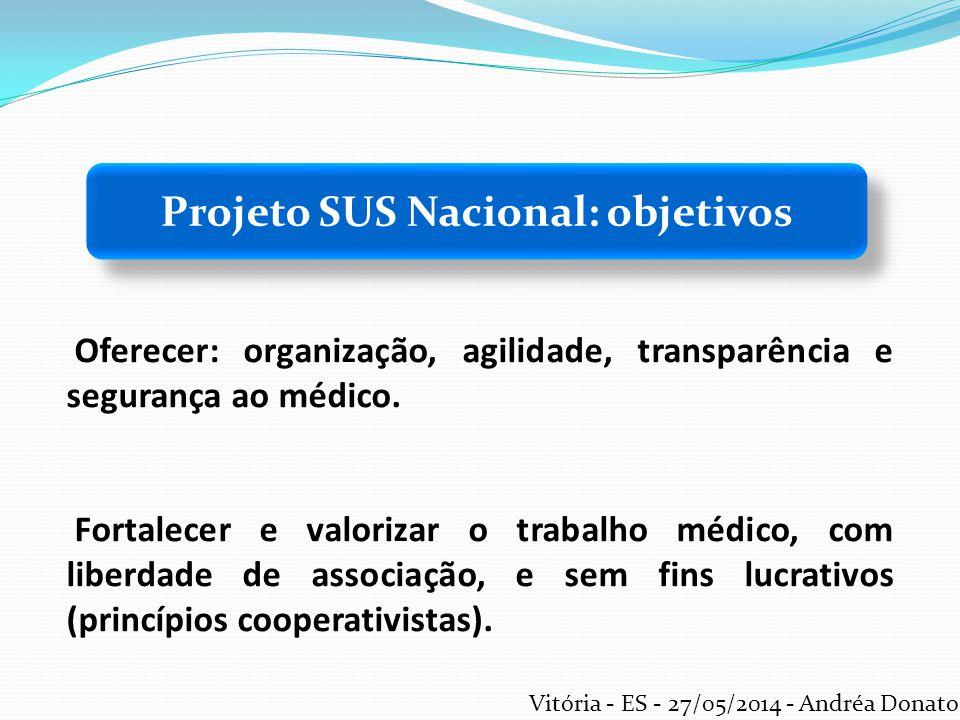 Projeto SUS Nacional: objetivos
