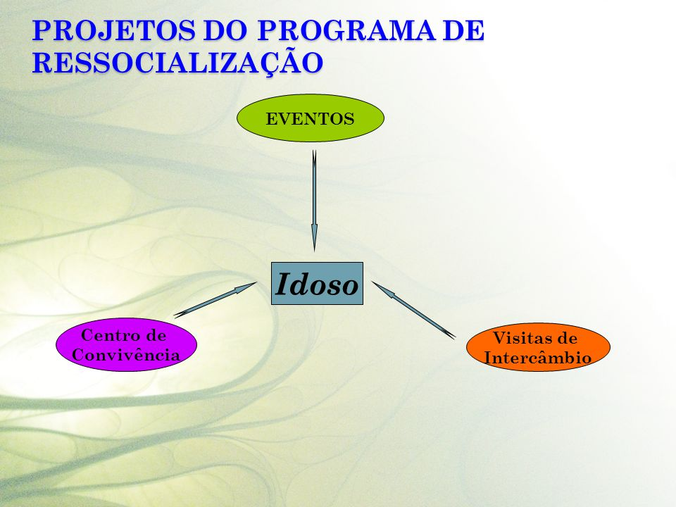 Projetos do Programa de Ressocialização
