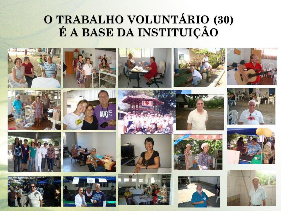O Trabalho Voluntário (30) é a base da Instituição