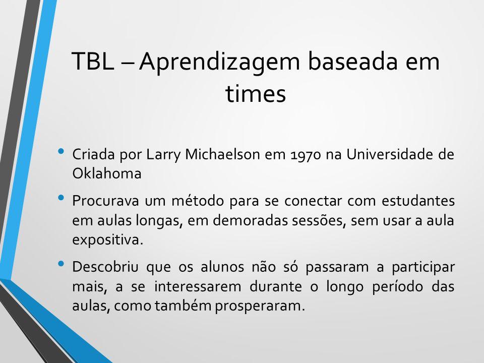 TBL – Aprendizagem baseada em times