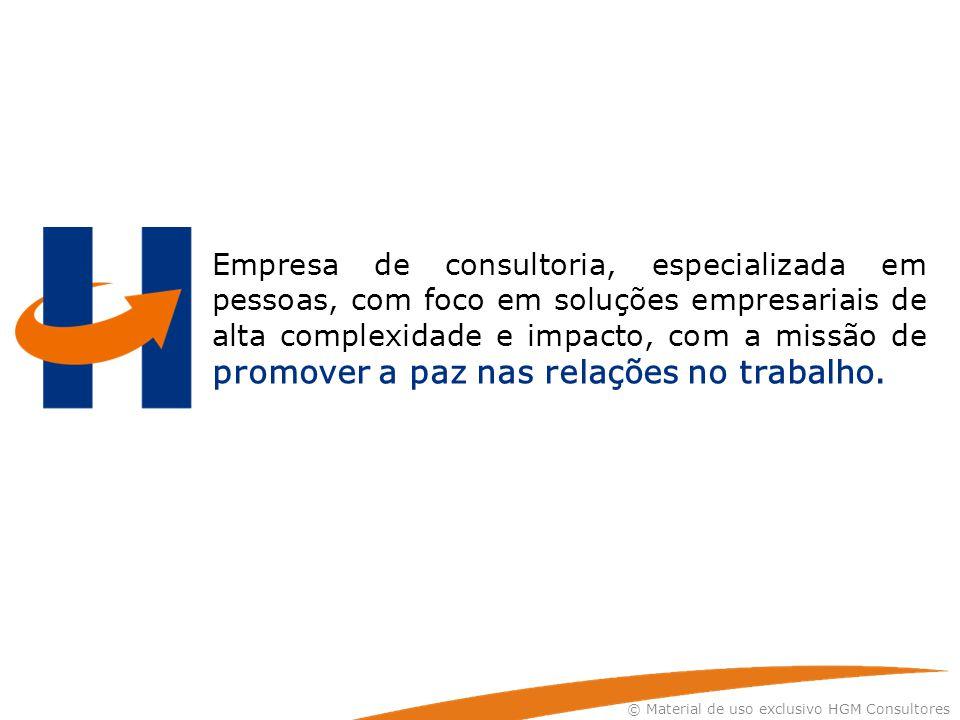 Empresa de consultoria, especializada em pessoas, com foco em soluções empresariais de alta complexidade e impacto, com a missão de promover a paz nas relações no trabalho.