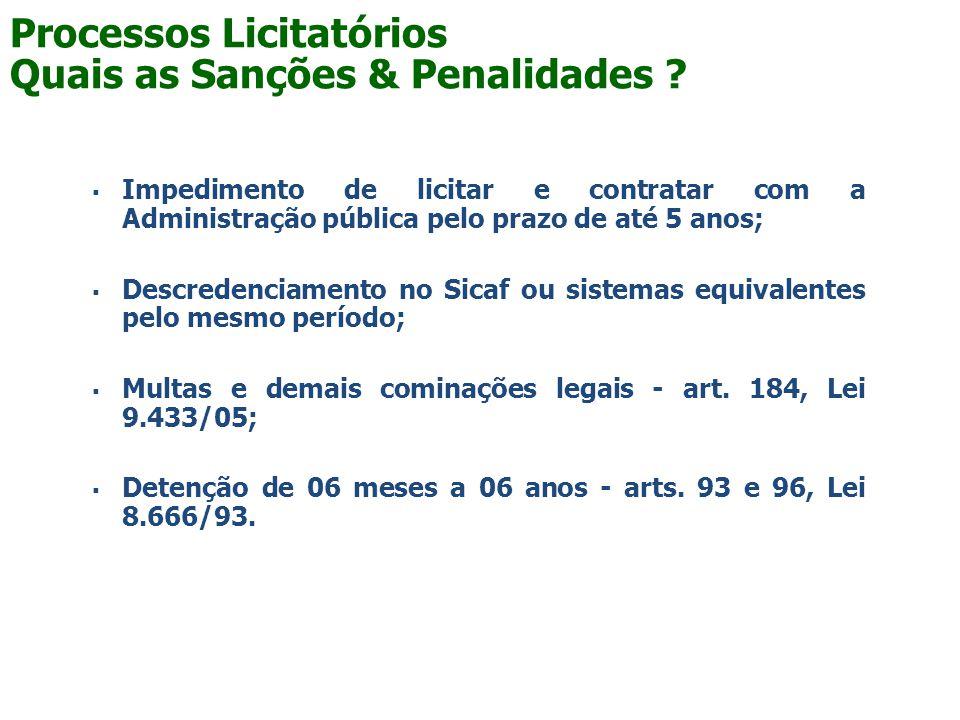 Processos Licitatórios Quais as Sanções & Penalidades
