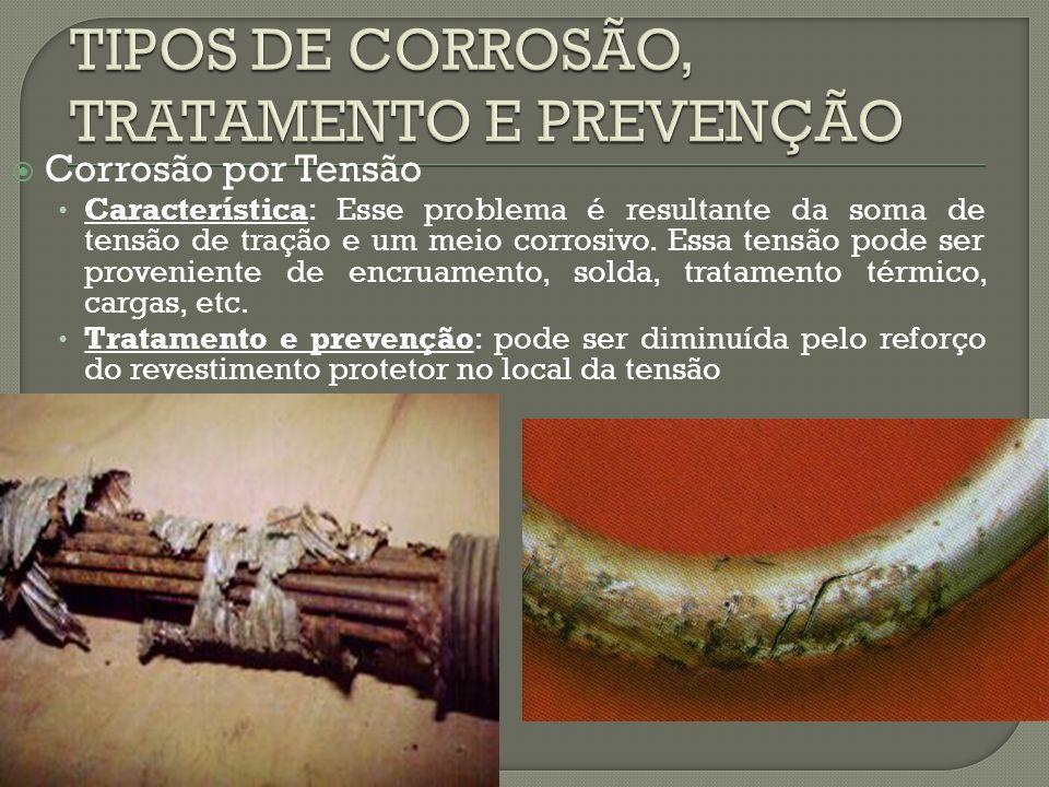 TIPOS DE CORROSÃO, TRATAMENTO E PREVENÇÃO