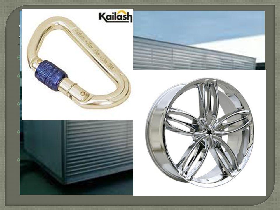 Ligas de Alumínio Quanto mais puro o alumínio, maior a resistência à corrosão e menor a resistência mecânica.