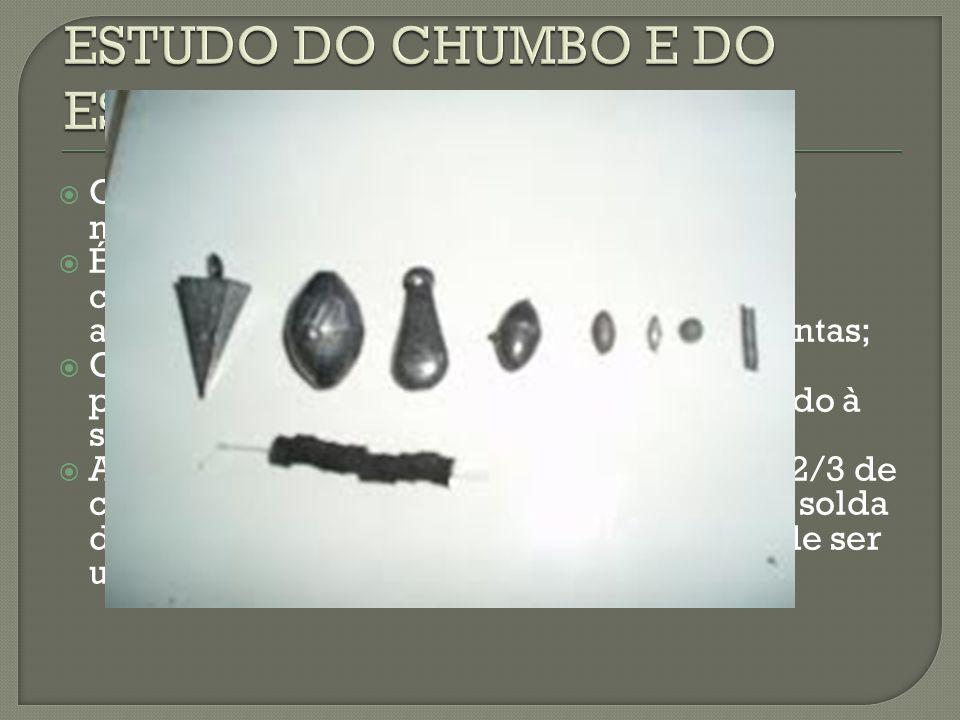ESTUDO DO CHUMBO E DO ESTANHO