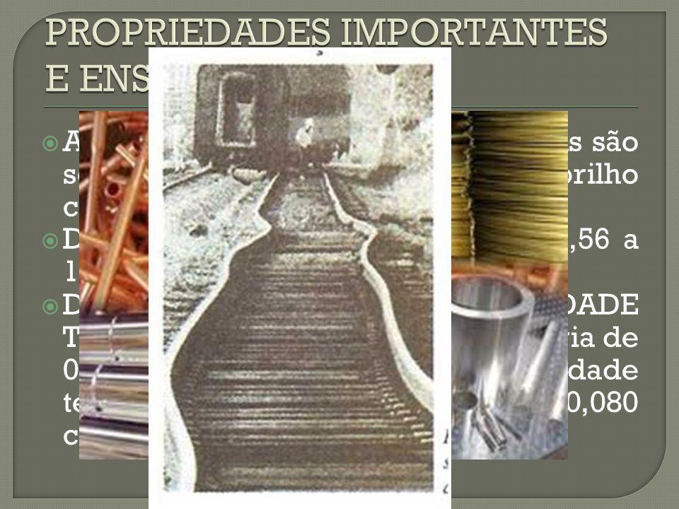 PROPRIEDADES IMPORTANTES E ENSAIOS