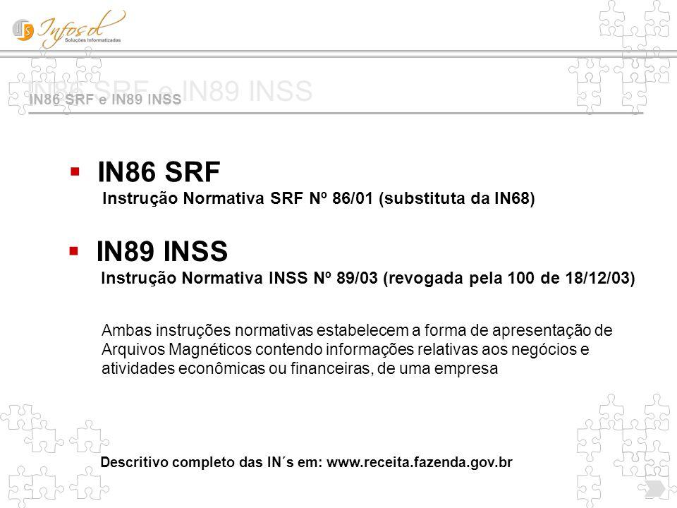 IN86 SRF Instrução Normativa SRF Nº 86/01 (substituta da IN68)