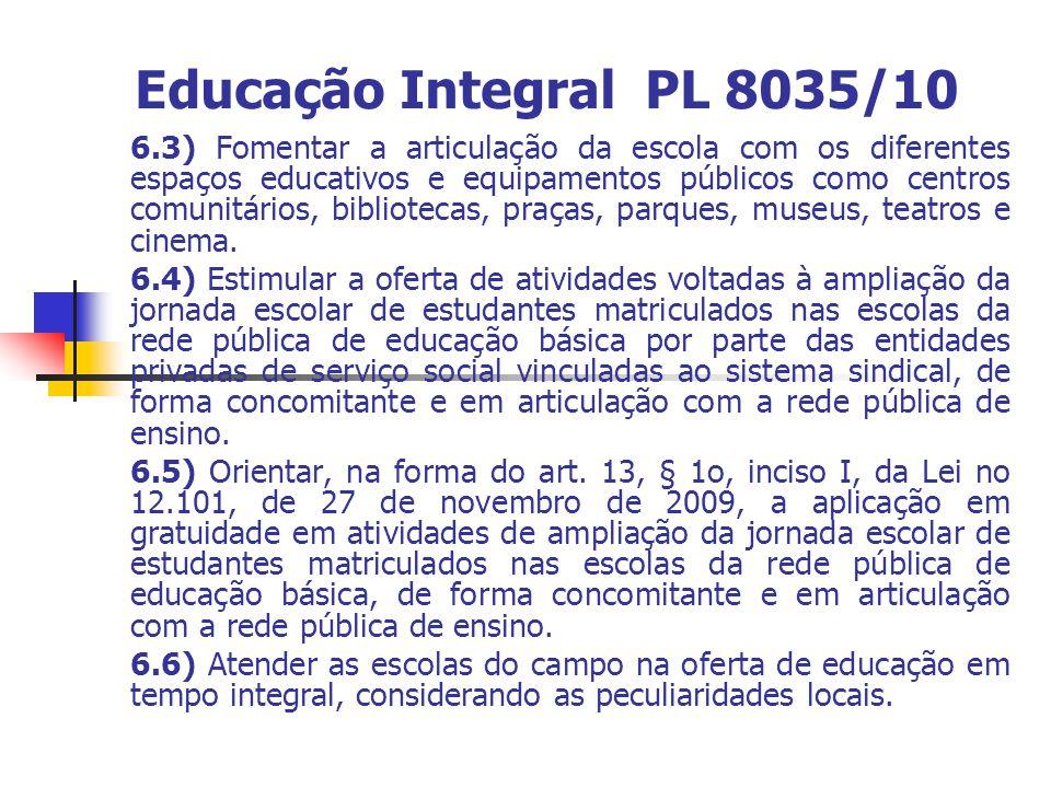 Educação Integral PL 8035/10
