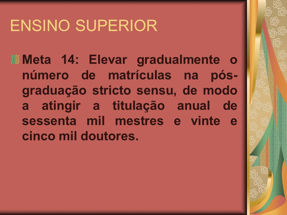ENSINO SUPERIOR