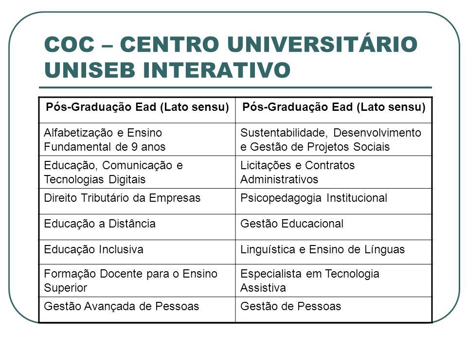 COC – CENTRO UNIVERSITÁRIO UNISEB INTERATIVO